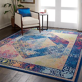 ANKARA ANR04 GLOBAL Rectangle Mutli bleu tapis couvertures traditionnelles
