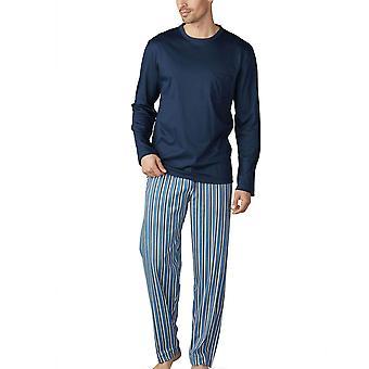 Mey 18780-668 mäns Breiter Streifen Yacht blå randig pyjamas Set