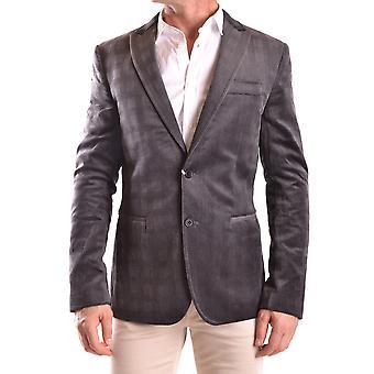 Bikkembergs Ezbc101037 Men's Grey Cotton Blazer