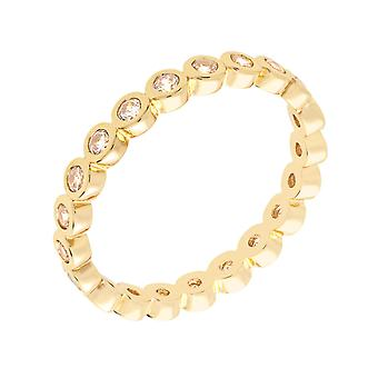 Bertha Juliet Collection Women's 18k YG Plated Stackable Eternity Fashion Ring Size 9