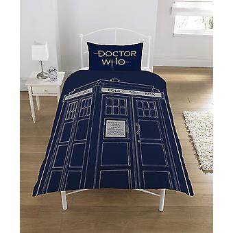 Dr Who Classic TARDIS enkel paneel dekbed Homeware