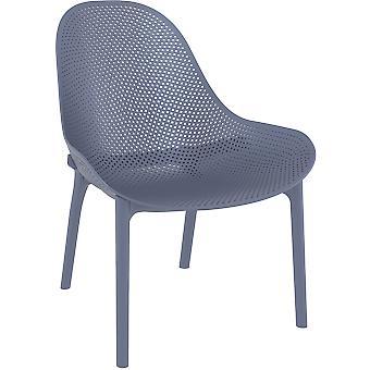 Plage7 - France Chaise de salon en plastique de ciel  Gris foncé ( ensembles de salon