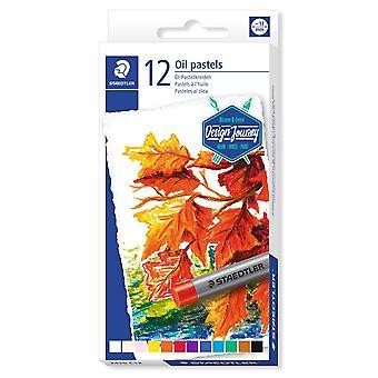 Staedtler Design Journey Oil Pastels Box Of 12 Assorted Colours