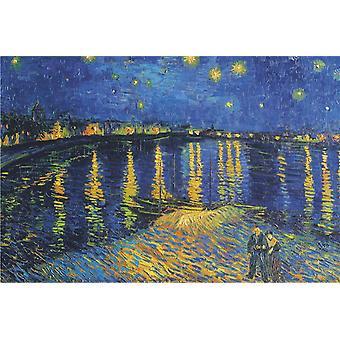 Affiche - Studio B - 24x36 VanGogh - Starlight Over Rhone (La Nuit Etoilee) Wall Art CJ3741