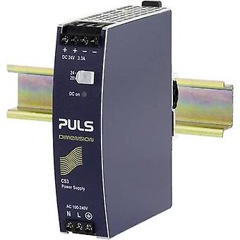 PULS DIMENSION CS3.241 Rail mounted PSU (DIN) 24 V DC 3.3 A 80 W 1 x
