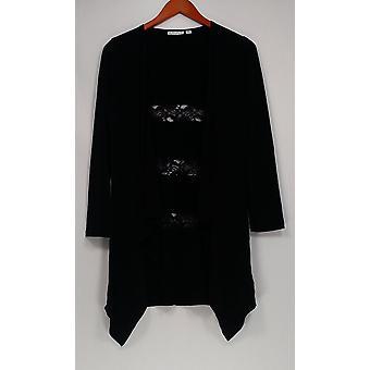 Joan Rivers Classics coleção mulheres ' s camisola Luxe Knit preto A239586
