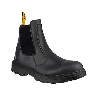 Amblers Safety Mens FS129 Water Resistant Pull su Safety Dealer Boot Black