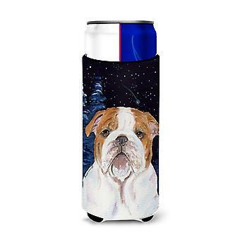 Starry Night English Bulldog Ultra Beverage Insulators for slim cans SS8447MUK