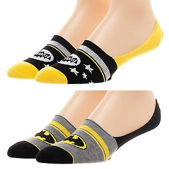 Batman DC Comics 2 Pack No Show Liner Socks