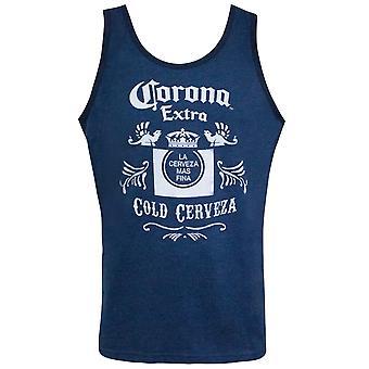 Corona Extra Blue Cold Cerveza Tank Top