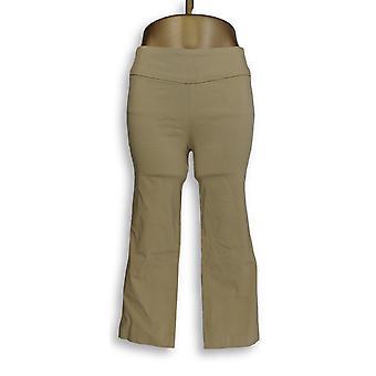Martha Stewart Femme-apos;s Pantalon Stretch Twill Crop Beige A309318