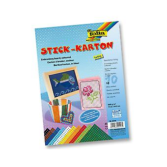 10 Plain Embroidery Boards in Assorted Colours for Kids Crafts | Sewing for Kids