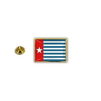 Pine Pines PIN rinta nappi PIN-apos; s metalli epoksi Länsi Papua Flag Länsi-Papua