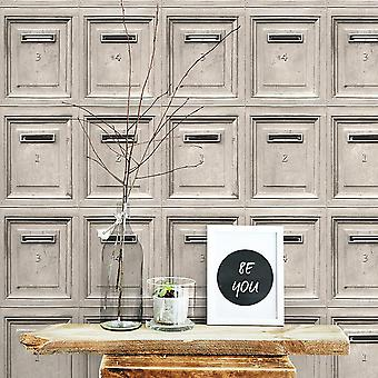 Vintage Mail Box Wallpaper AS Creation
