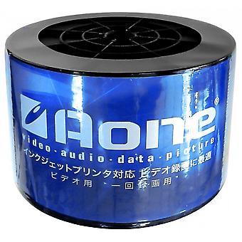 150 DVD AONE DVD-R 16X Scrivere Dischi bianchi FF White Inkjet Printable (Triple 50 Spindle /Cake Box)