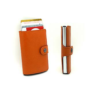 Theft protection RFID wallet auto card holders orange