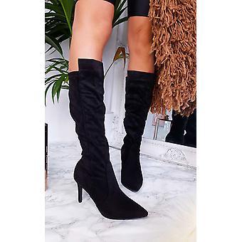 IKRUSH Womens Pami salto, altura do joelho, botas