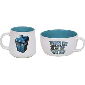 Doctor Who TARDIS Breakfast Set