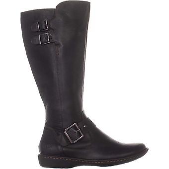 B.O.C النسائي أوليفر الجلود مغلقة إصبع القدم أحذية أزياء العجل منتصف