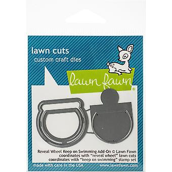 Lawn Fawn Reveal Wheel Keep on Swimming Add-on Cutting Dies