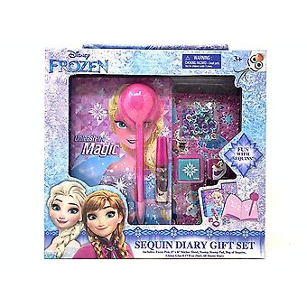 Stationery Set - Disney - Frozen 2 - Sequin Diary Gift Set New 439480
