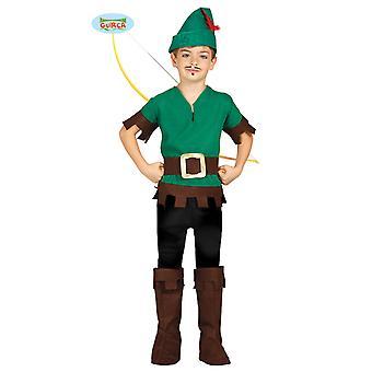 Traje de arquero para niños carnaval Robin Hunter edades