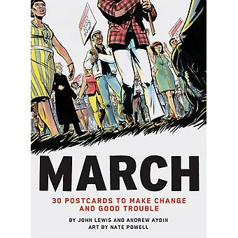 March 30 Postcards to Make Change and Good Trouble by John Lewis