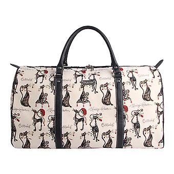 Marilyn robertson - catitude travel big holdall by signare tapestry / bhold-cude
