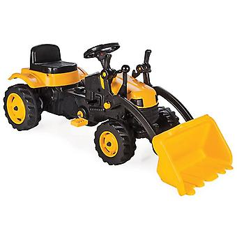 Pilsan children's tractor 07315 yellow, pedals shovel, adjustable seat, from 3 years