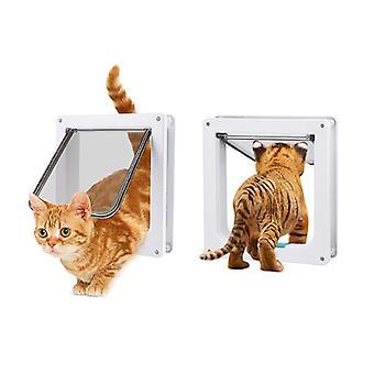 Pawz 4 Way Lockable Pet Cat Small Dog Flap Door With Silent Brush