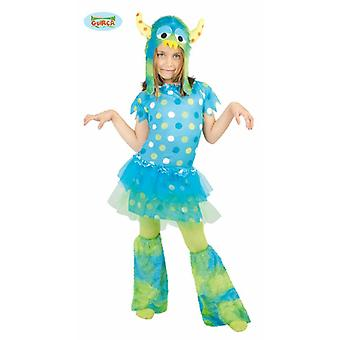 Blaues Monster Kleid für Mädchen Halloween Kostüm Karneval