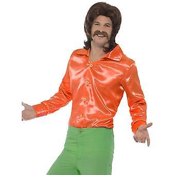 60's Shirt, Orange, Mens