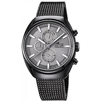 Lotus 18567-C CHRONO watch - watch Chrono stål Pvd svart urtavla grå mannen