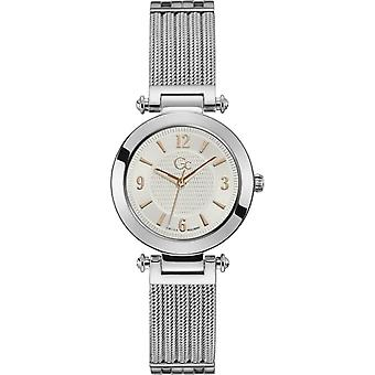 Watch GC Y59004L1MF - PRIME CHIC Bo tier shiny steel silver dial with dor tails s pink bracelet shiny steel woman