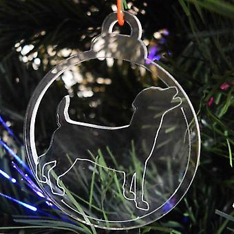 犬安物の宝石をクリア アクリル クリスマス装飾 6 個パック - ジャック ラッセル