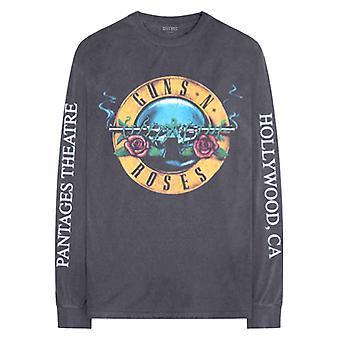 Guns N Roses T Shirt Hollywood Tour new Official Charcoal Grey Long Sleeve