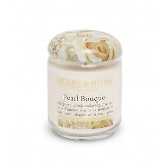 Heart & Home Small Jar Candle Pearl Bouquet