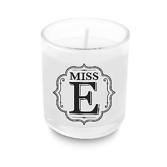 Heart & Home Alphabet Votive Candle - Miss E
