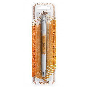 Rainbow Dust kaksipuolinen ruoka kynät syötävä ruoka kynä oranssi