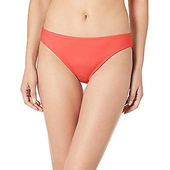 La Blanca Women's Island Goddess Solid Hipster Bikini Swimsuit, Cherry, Size 8.0
