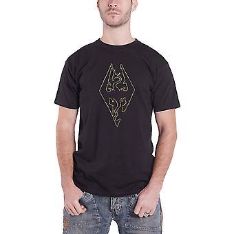 The Elder Scrolls T Shirt Imperial Dragon logo new Official Mens Black