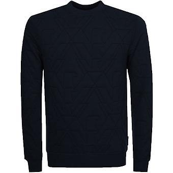 Emporio Armani Navy Blue Crew Neck Logo Sweatshirt 6Z1MA5 1J17Z