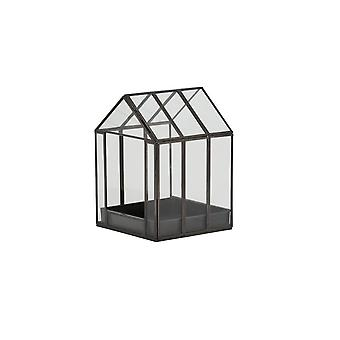 Light & Living Deco Box 16x16x21.5cm Berogy Glass-Black