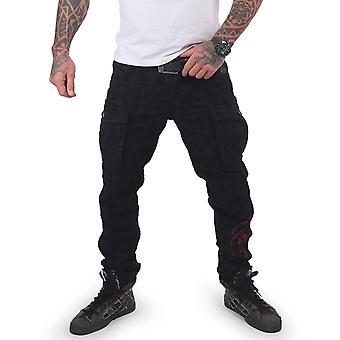 YAKUZA Men's Cargo Pants Branding Grip