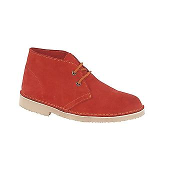 Roamers Red Real Suede Desert Boot Unlined Tpr Sole