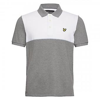 Lyle & Scott Yoke Stripe Polo Shirt White SP1215V