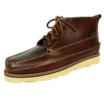 G. h. bass & co. camp moc iii ranger pull up men's dark brown leather boots