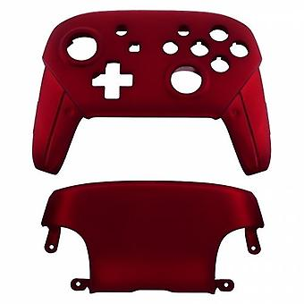 Replacement housing shell for nintendo switch pro controllers front & back cover hard soft touch - red | zedlabz