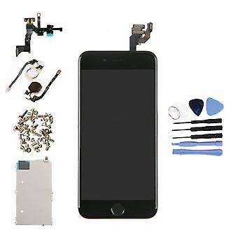 الاشياء المعتمدة ® iPhone 6 4.7 & عرض ما قبل تجميعها (شاشة تعمل باللمس + LCD + أجزاء) AAA + جودة - أسود + أدوات