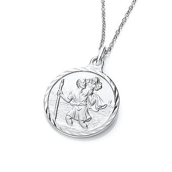 David Deyong Sterling Silver St Christopher Medal Necklace